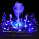Fuente de acero inoxidable con luz y música