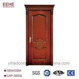 Projeto principal de madeira da porta de painel do único Teak contínuo