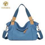 Buon sacchetto di Tote di acquisto di modo del sacchetto dell'imbracatura del Traversa-Corpo della tela di canapa di stile