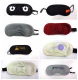Masques d'oeil estampés par coutume de sommeil de satin de conformité de la CE pour la lumière d'ombrage