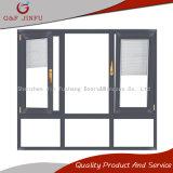 Anti-Theft звукоизоляционное алюминиевое окно штарки Casement профиля с экраном насекомого