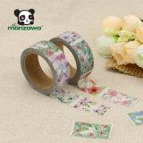 Cinta adhesiva japonesa clasificada floral hermosa de Washi del diseño como regalo