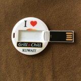 De Ronde van uitstekende kwaliteit vormde de MiniBestuurder van de Flits van de Creditcard USB, de Kaart USB van de Cirkel met het Volledige Embleem van de Kleur