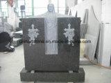 La Chine monument de granit (jusqu'cross et feuille) pour le cimetière