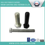 Boulon Hex lourd normal d'acier du carbone DIN933, noir, galvanisé, HDG
