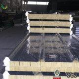 La tuile de toit ondulé en acier panneau sandwich de laine de roche pour mur/toit