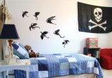 Spiegel-Wand-Aufkleber steuern Dekor-Schädel-Knochen-Gel-Aufkleber für Halloween automatisch an