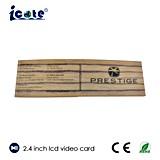 Venta caliente tarjeta video del LCD de 2.4 pulgadas con la alta calidad para el regalo/el asunto