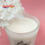 Glasglas-Kerze mit hölzerner Kappe von duftendem für Dekoration
