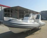 Liya 17 pies de Hypalon/PVC del deporte de barco inflable rígido de la costilla con el motor externo