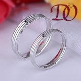 Anel de casamento por atacado do CNC dos anéis de casamento da prata da qualidade superior