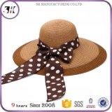 Chapéu de palha flexível feito malha alta qualidade com guarnição da cor