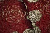 Tessuto rosso del sofà del jacquard del Chenille dell'elemento del jacquard