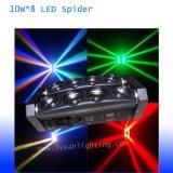 8*10W LED 광속 빛 거미 빛