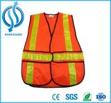 Hola chaleco reflexivo de las correas de la seguridad de la clase 2 del ANSI del Vis con la impresión de la camisa de Customt