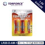 Lr20 de 1,5-D Super potencia libre de mercurio de tamaño de pila alcalina
