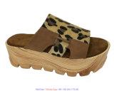 Santal fabriqué à la main de cuir d'été des chaussures 2018 de léopard sexy de grande taille de mode