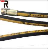 Flexible hydraulique du flexible hydraulique de caoutchouc pour SAE R3 R6 DIN 1te 2te 3te
