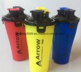 El nuevo Two-Mouth proteína en polvo de Gimnasia botella agitador de plástico
