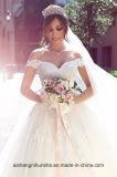 ウェディングドレスのテュルの夜会服の床の長さの花嫁衣装