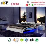 Het witte Moderne Bed van het Leer voor Bevordering (HC568)