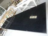 Zwarte het kwarts-Countertop van de Fonkeling Keuken Worktops&Bartop