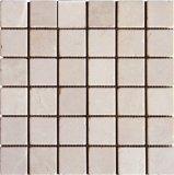 Естественная каменная Cream плитка мозаики ванной комнаты Marfil