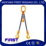 目の吊り鎖が付いているチェーン吊り鎖を持ち上げる2本の足