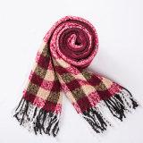 Кашемир женщин как классицистической связанный нашивкой шарф шали печатание зимы (SP305)