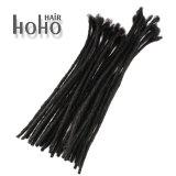 Het hete Verkopende Product Uitbreiding van het Menselijke Haar van 10 Duim de Zwarte haakt Dreadlocks
