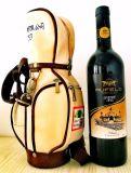 Mini saco de golfe para presentes da promoção do bloco da garrafa de água do vinho vermelho