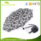 휴대용 소형 크기 3 겹 방풍 우산