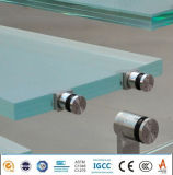 1平方メートルあたりガラスステアケースの柵デザイン薄板にされたガラスの価格