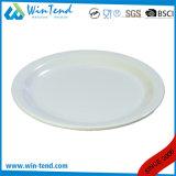 Assiette ovale de plaque de buffet blanc en gros de porcelaine