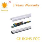 Alto tubo 85-265V los 0.6m Aluminum+PC del lumen 9-18W LED T8