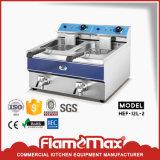 2 chip del cestino del serbatoio 2 e friggitrice elettrici dell'alimento (HEF-082)