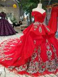 أحمر [بلّ غون] زجاج ينظم فريدة شريط عرس ثوب