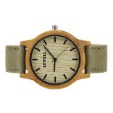 2017 el reloj de bambú del cuarzo unisex hecho a mano el 100% natural superventas con el Ce RoHS Fsc