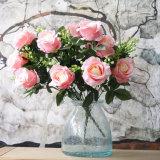 Venda por atacado artificial do grupo da flor de Rosa do disconto