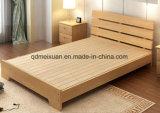 固体木のベッドの現代ダブル・ベッド(M-X2331)