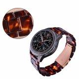 Riem van het Horloge van de Kleur van de Manier van Drie Links van de hars de Materiële Donkere voor S3