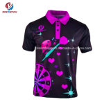 Breathable 100% Polyster에 의하여 승화되는 인쇄 빠른 건조용 운동복 남녀 공통 폴로 셔츠