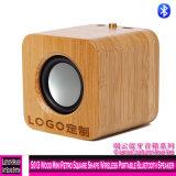 Altoparlante portatile senza fili di Bluetooth di mini retro figura quadrata di legno 5013