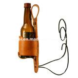 Het Holster van de Houder van het leer voor Bier drinkt de Fles van het Blik van de Drank