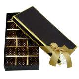 高品質弓が付いている堅いペーパーチョコレートパッキングギフト用の箱