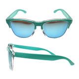 Поощрения оптовых УФ400 с антибликовым покрытием и логотип для глаз мужчин солнечные очки