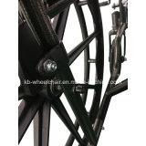 Le desserrage rapide, saupoudrent le fauteuil roulant manuel enduit, Muti-Fonctionnel, handicapé, en acier