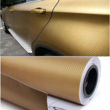 Vinilo auto-adhesivo de la buena del precio fibra del carbón para el abrigo del coche
