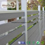 Frontière de sécurité composée en plastique en bois de décor de jardin de vente chaude