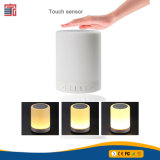 Haut-parleur portatif imperméable à l'eau de radio de Bluetooth de détecteur de contact de lampe de l'acoustique DEL de cadeau promotionnel professionnel d'approvisionnement de volume